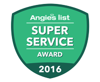 ANGIE'S LIST 2013 & 2016 SUPER SERVICE AWARD